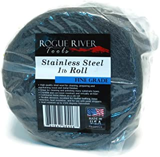 Rogue River Tools Stainless Steel Wool 1lb Roll Reel (Fine Grade) - Made in USA!