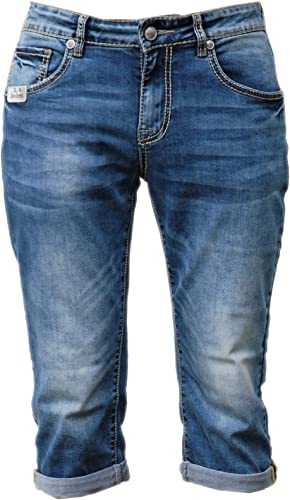 Blau Monkey Jeans, 3 4 Turn Up, Markus, BM-4527, Thick Yarn