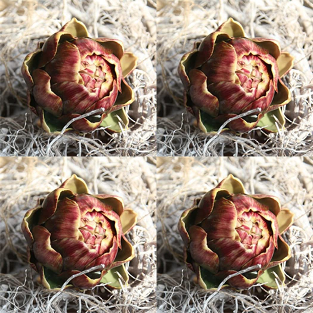 yeesport Artificial Flower Realistic Photography Max 46% OFF Small Max 64% OFF Artichoke