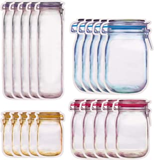 10 stücke glas reißverschluss taschen lebensmittel lagerung snack sandwich zi xj