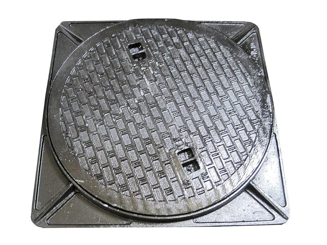 エンディングノイズファンネルウェブスパイダー鋳鉄製 マンホール 浄化槽フタ 6t荷重マンホール (蓋枠セット) 穴径400mm (フタ径450mm) MK-6-400