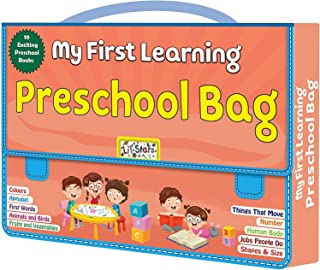 Laster Pre-School Activity Early Learning Exciting 10 Different Books, Early Learning Books For Kids With Bag