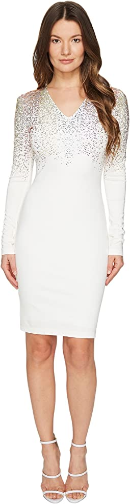 Long Sleeve Fitted Short Dress