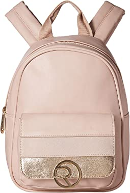 Mixed Media Front Pocket Midi Backpack