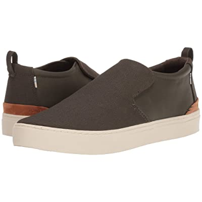 TOMS Paxton Water-Resistant Slip-On (Tarmac Olive Textural Canvas/Nylon) Men