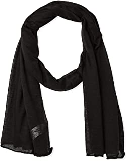 Pull & Bear Oblong Scarf For Girls,solid pattern (Black)