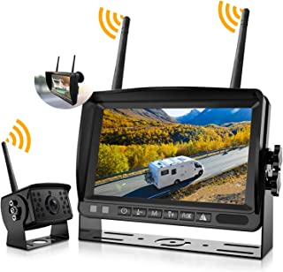 Wireless Backup Camera System, IPOSTER Wireless Backup Camera with DVR Recording Function for Car RV Truck Travel Trailer ...