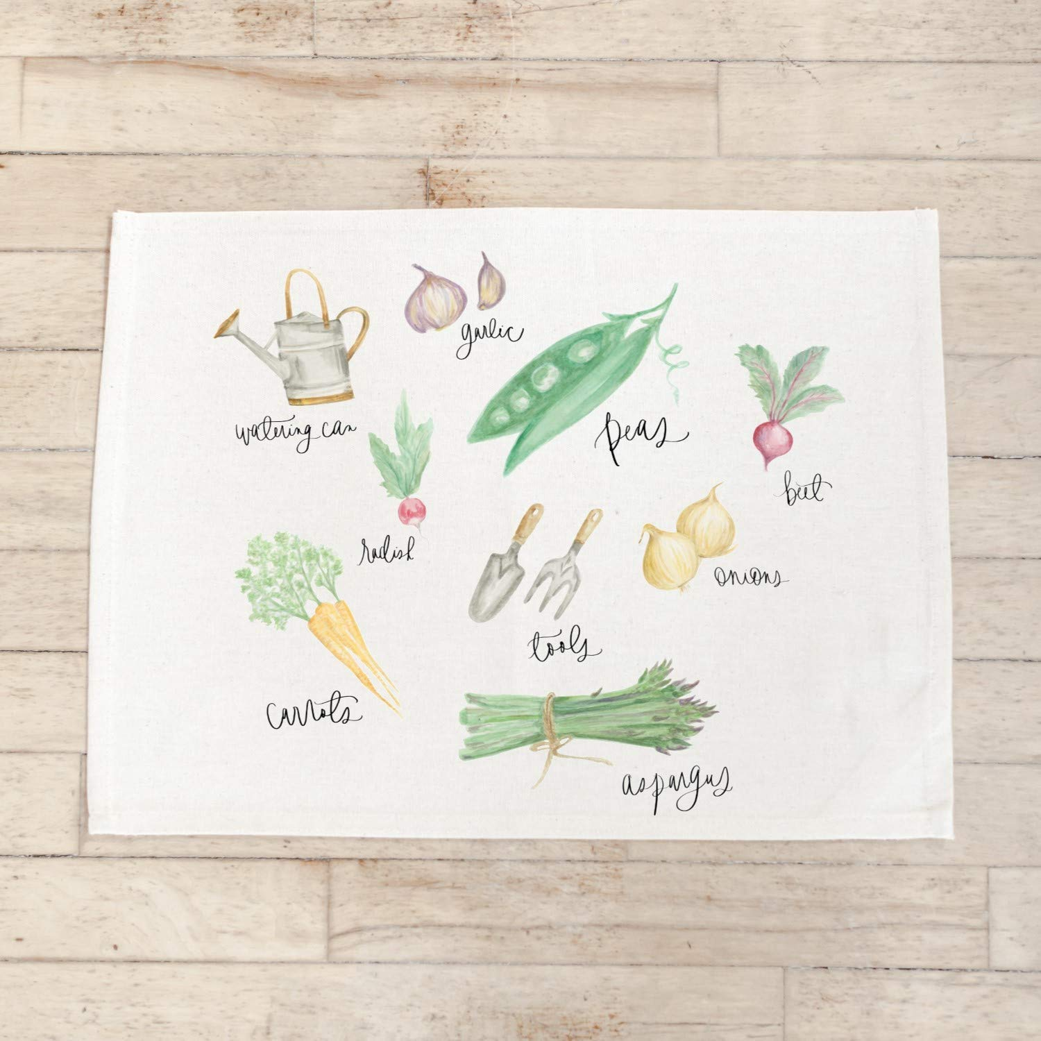 Placemat Set - Vegetables Watercolor the in home 4 years warranty USA Store Handmade