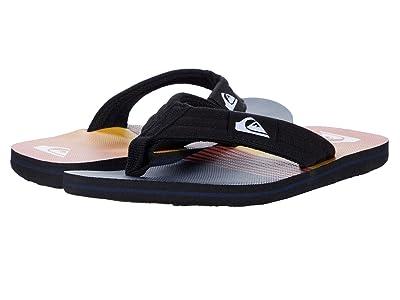 Quiksilver Kids Molokai Layback (Toddler/Little Kid/Big Kid) (Black/Black/Orange) Boys Shoes