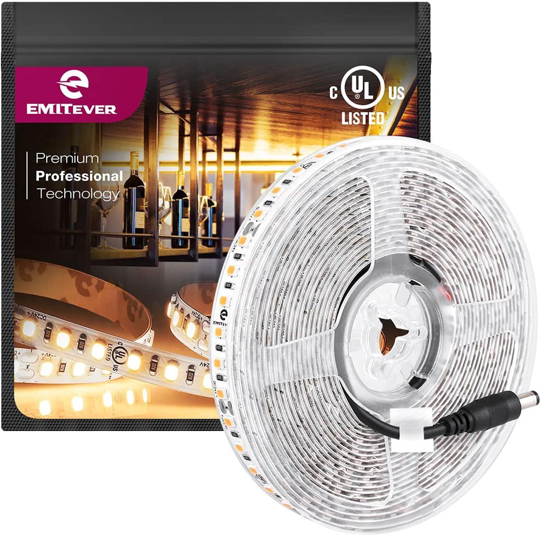 EMITEVER LED Strip Lights Warm White L 2700K DC overseas Tape UL Max 78% OFF 24V