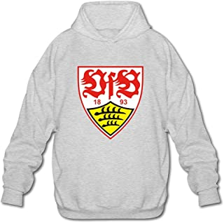 Men's VfB Stuttgart 100% Cotton Hoodies Sweatshirt Black Custom By Rahk