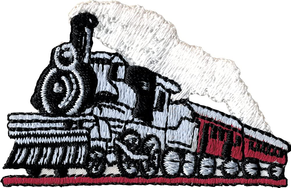Railroad Steam Elegant Train - Embroidered Iron Sew or On Patch Indefinitely