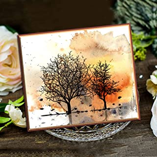 LZBRDY Flower Leaves Branch Clear Stamps and Dies Set for Scrapbooking Card Making Let Your Dream Blossom Words Silicone Stamps and Dies