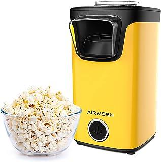 AIRMSEN Machine à Pop Corn, Machine à Popcorn à Air Chaud avec Cuiller à Mesurer, Sans Gras Huile, Sans BPA, Rapide & Faci...