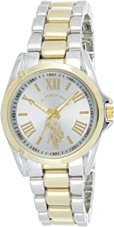 U.S. Polo Assn. USC40317 Women's Quartz Watch, Analog Display and Stainless Steel Strap
