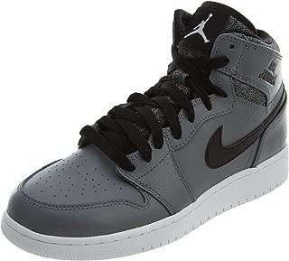 Nike - Air Jordan 1 Retro High - Color: Grey Kids Shoes  - Size: 6.5 US