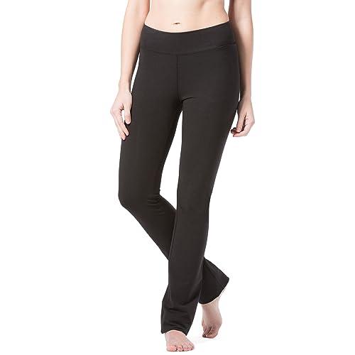 ef31b76a1c5e09 Fishers Finery Women's Ecofabric Straight Leg Yoga Pant with Back Pockets