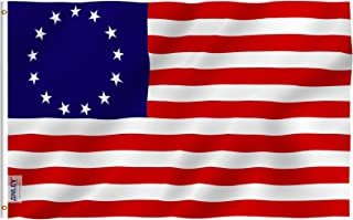 Anley Fly Breeze 3x5 Foot Betsy Ross Flag - Vivid Color and UV Fade Resistant - Canvas Header and Double Stitched - United States Flags Polyester with Brass Grommets 3 X 5 Ft