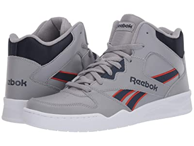 Reebok Lifestyle Royal BB4500 Hi 2 (Pure Grey/Collegiate Navy/Legacy Red) Men