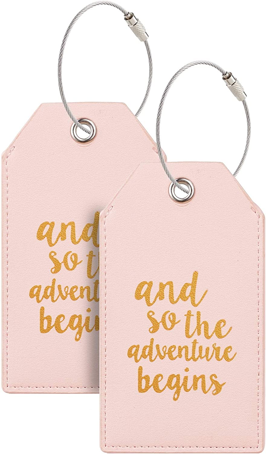 Casmonal Luggage Tags with Full Back shopping Loops Cover Steel Limited Special Price Privacy w