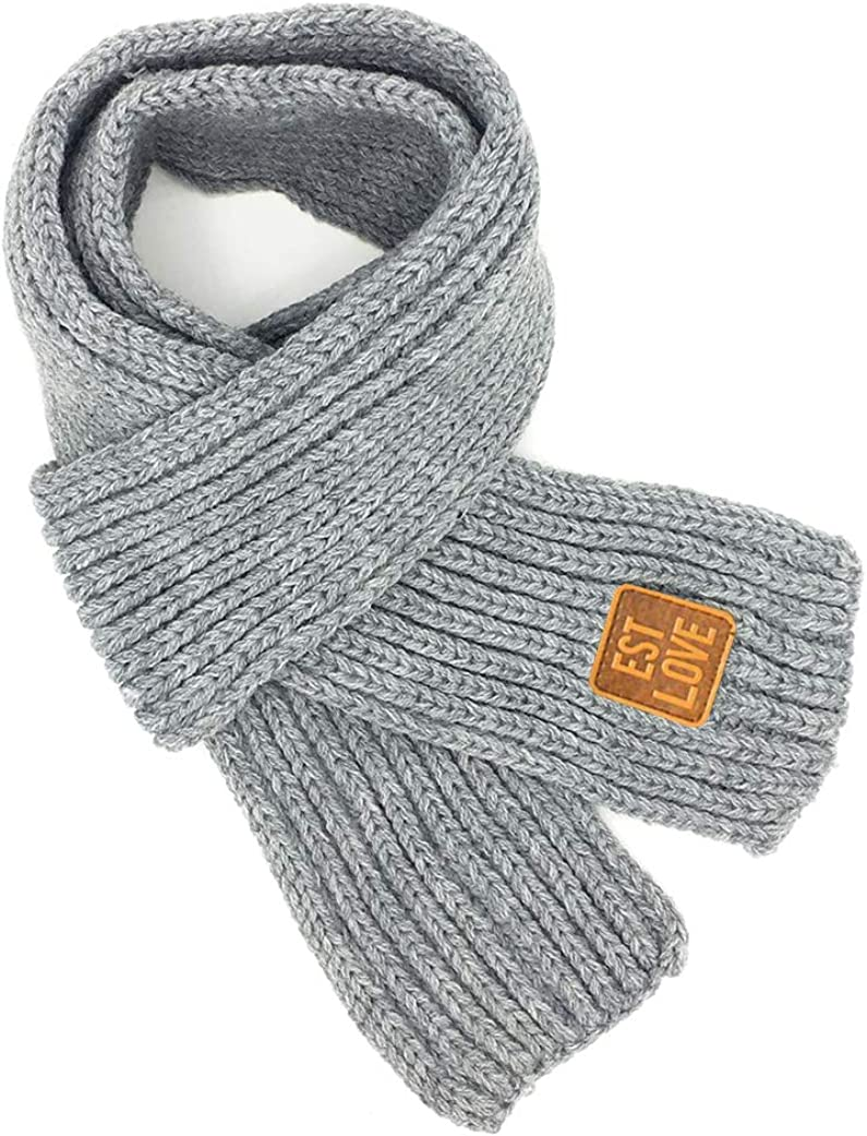 Swacort Kids Winter Warm Knitted Scarves Wrap Neck Warmer Toddler Scarf Boys Girls