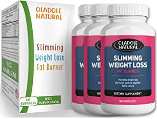 Oladole Natural Slimming Weight Loss 100% Natural Aid and Diet Pill Fat Burning and Appetite Suppression Keto Ketosis Carb...