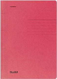 Exacompta Falken, 80003775002F Paquet de 100 chemises en carte à lamelle A4 250g/m² coloris Rouge 240x320 mm