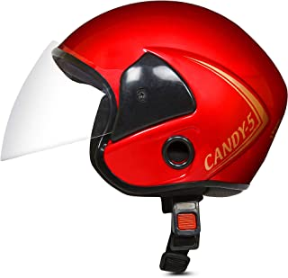 ACTIVE CANDY 5 Open Face Face Helmet for Kids from 3 to 6 Years (RED, Size-Extra Small) (RED)