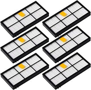 DoubleSun 6pcs Replacement Filters for iRobot Roomba 800&900 Series 890 891 894 860 861 864 880 870 980 960 961 964 Accessories