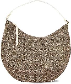 Borbonese Men's 924339648F02 Beige Leather Shoulder Bag