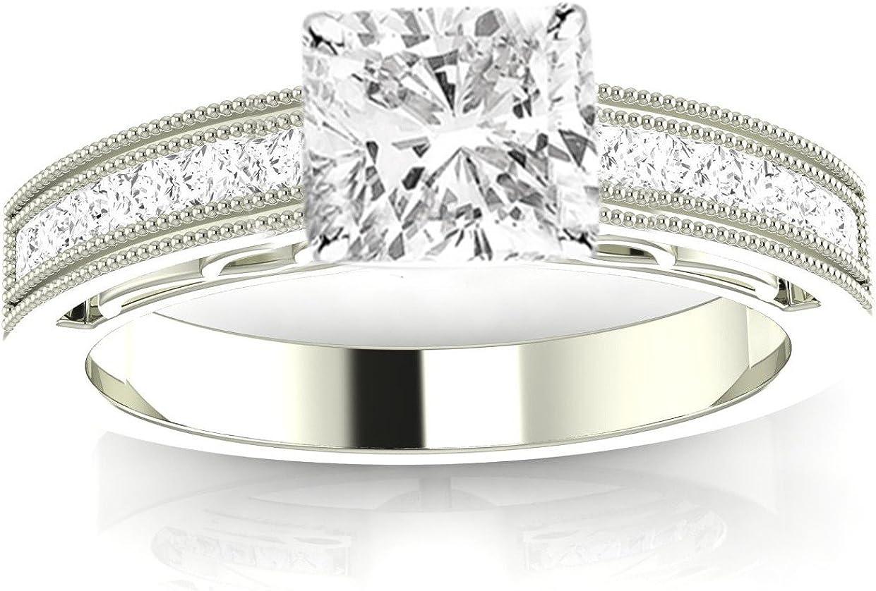 14K White Gold Sale price 3.25 Carat LAB DIAMOND Channe Safety and trust CERTIFIED IGI GROWN