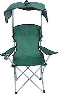 Besthls Camping Chairs with Canopy for Kids, Portable Kid Quad Chair Folding Recliner Lawn Chair with Shade and Cup Holder Outdoor Events,Support 350 LBS