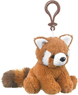 Wildlife Artists Red Panda Plush Backpack Clip Toy Keychain 5.5