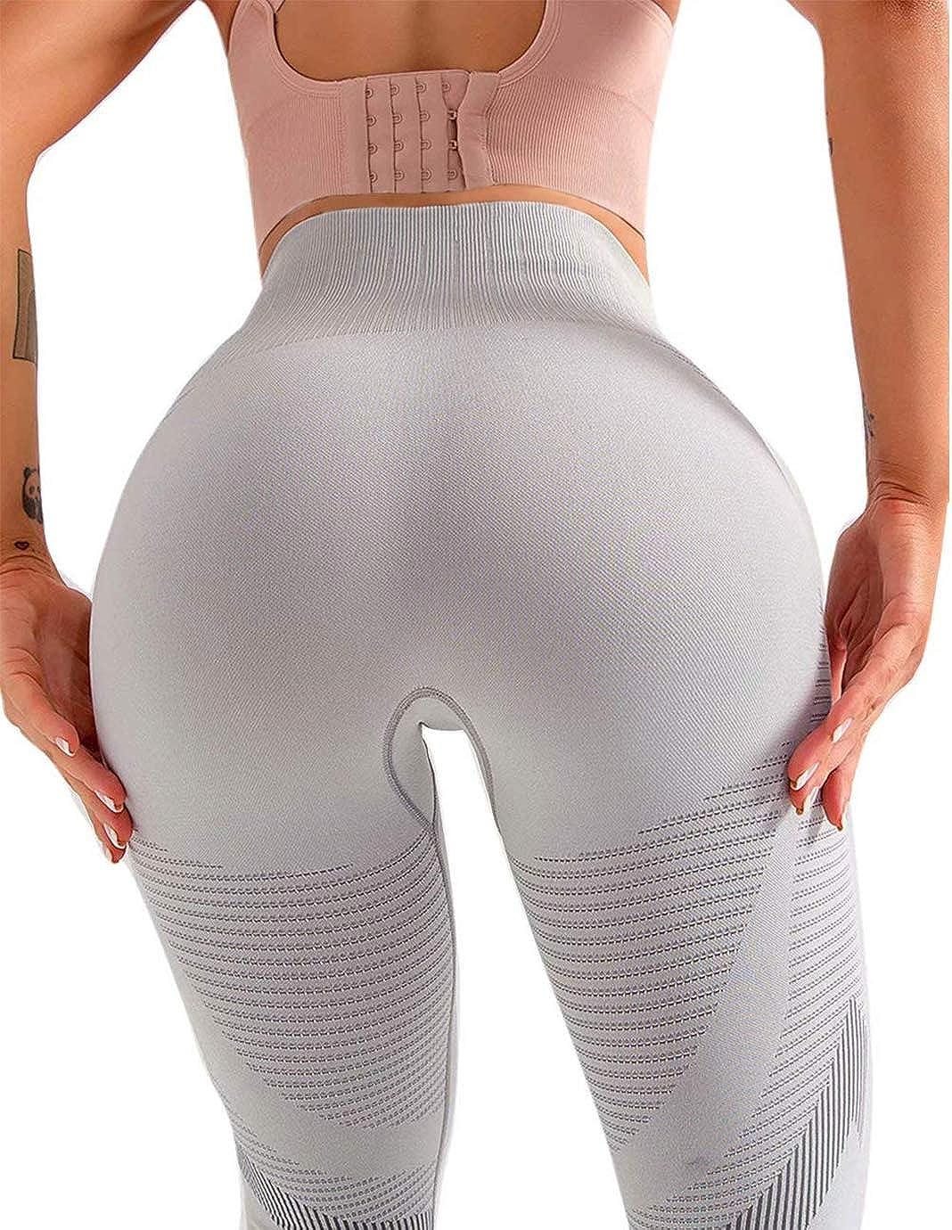 Qric Ultra Soft Leggings Seamless Yoga Pants for Women Workout High Waist