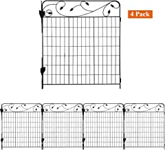AshmanOnline Garden Fence 44in x 3ft - Outdoor Rustproof Metal Landscape Fencing Wrought Iron Wire Gate Border Edge Foldin...