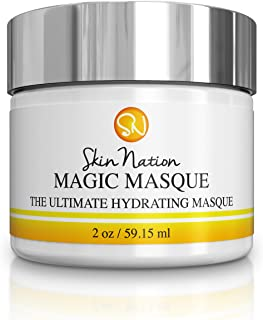 Magic Masque Face Mask   Hydrating Facial Mask, Pore Minimizer, Pore Cleansing, Skin Tightening, Anti Aging and Healing   Concentrated 2 oz. Aloe Vera Based   Skin Nation by Michelle Stafford