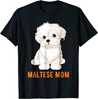 Dog Lovers Maltese Mom Gift Ideas Dog Face T-shirt