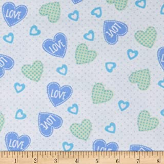 flannel heart fabric