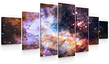 Startonight Huge Canvas Wall Art - Awesome Space LLL - Home Decor - Dual View Surprise Artwork Modern Framed Wall Art Set ...