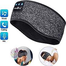 Auriculares para Dormir - LCdolida Bluetooth V5.0 Deportes Diadema Deportiva Banda Auriculares Deportes, IPX6, perfectos para Dormir de Lado, Viajes Aéreos, Insomnio, Meditación y Yoga
