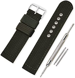 Vinband Correa Reloj Calidad Alta Lienzo Correa Relojes Militar del ejército - 16mm, 18mm, 20mm, 22mm, 24mm Correa Reloj con Hebilla de Acero Inoxidable