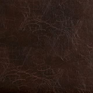 G491 Brown Distressed Leather Look Upholstery Grade Recycled Leather (Bonded Leather) by The Yard
