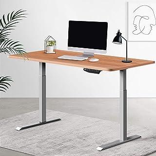 Artiss Standing Desk Sit Stand Table Riser Wooden Computer Laptop Desks Motorised Dual Motors 140cm