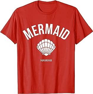 Mermaid Shell Hawaii Island Beach Vacation Teens Women Gift T-Shirt