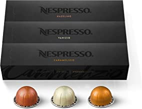 Nespresso Capsules VertuoLine, Flavored Variety Pack, Medium Roast Coffee, 30 Count..