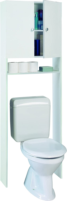 Demeyere 2-Door Sanitary Storage Unit, Wood Velvet White, 66x31x187 cm