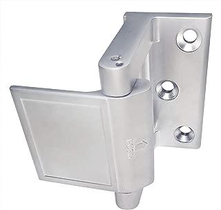 Reinforced Privacy Door Latch Home Security Door Lock - Hotel Grade Swinging Front Door Lock (1, Brushed Nickel)