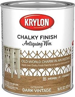 Krylon K04219000-13 Chalky Finish, Quart, Antiquing