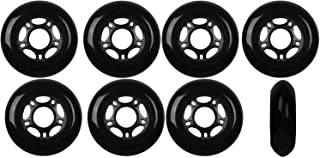 116b2578434 Player's Choice Inline Skate Wheels 72mm 82A Black Outdoor Roller Hockey  Rollerblade 8 Pack