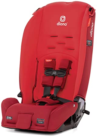 Diono Radian 3R, 3-in-1 Convertible Rear and Forward Facing Convertible Car Seat, High-Back Booster, 10 Years 1 Car Seat, Slim Design - Fits 3 Across, Red Cherry: image